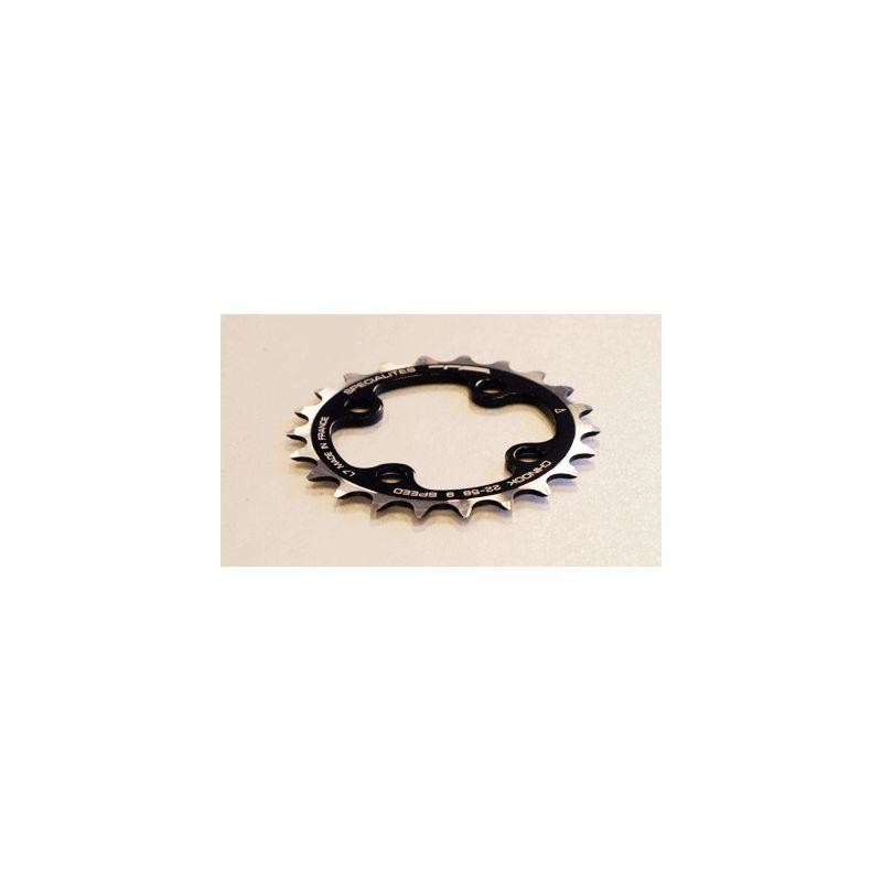 TA Specialties kettingblad 22 tanden 4 arm ATB zwart boutsteek 58mm passend XT/LX