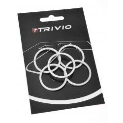Trivio Spacer Stuurbuis 2mm Alloy zilver 1 1/8 inch -5st