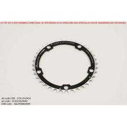 Kettingblad 40T Middenblad Triple BCD130 zwart Alize - TA-Specialities