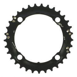Kettingblad 38T Sram MTB Alu 10sp zwart BCD104