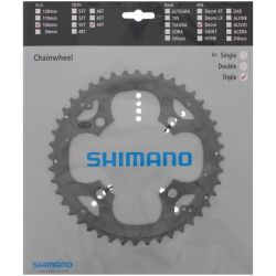 Kettingblad 44T Shimano Deore FC-M590 Triple 9sp BCD104 zilver