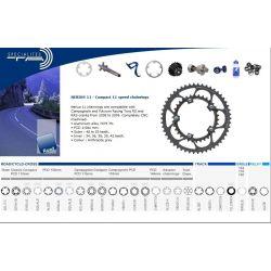 Shimano 39T compact binnenblad zilver TA Specialties Zephyr BCD 110/5