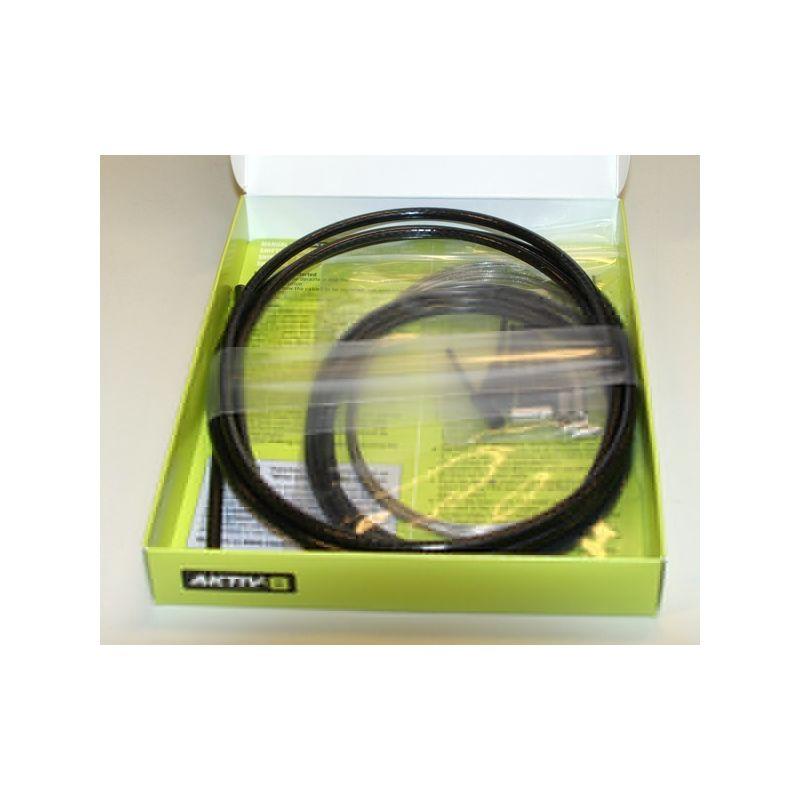 Kabelset Aktiv8 - RACE/ATB Derailleurkabelset Duraline Carbon zwart