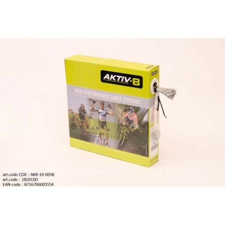 Derailleur-Binnenkabel Aktiv8 voor Derailleurs - RVS - Slick 0.8mm x 2250mm