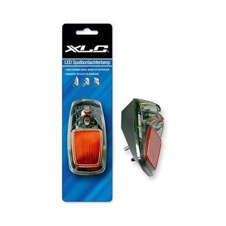 XLC Achterlicht TL365CDS LED Smoke Aan/Uit/Automatisch Batterij - Spatbordbevestiging