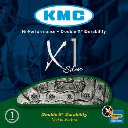 KMC X1 ketting e-bike middenmotor - geintegreerde versnellingsnaaf