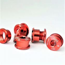 Rode aluminium kettingbladboutjes 5 stuks