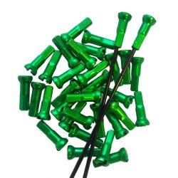 Sapim groene aluminium Polyax spaaknippels 14mm ( 100 stuks)