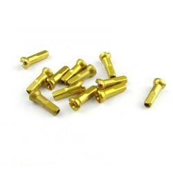 Sapim licht geel aluminium Polyax spaaknippels 14mm ( 100 stuks)