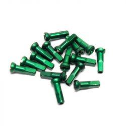 Sapim donker groene aluminium Polyax spaaknippels 14mm ( 100 stuks)
