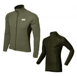 Winterjack Shimano Orginals Windflax grijs - M + Odlo Warm Ondershirt...