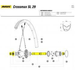 Mavic Crossmax SL / SLR 29er 2015 achterwiel as-kit QRM 30870401
