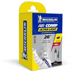 Michelin Binnenband C4 MTB AirComp UltraLight 26x 1.6-2.1 Frans Ventiel...