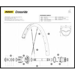 Spaak achterwiel cassettezijde  277mm Mavic Crossride / XA 27,5 inch