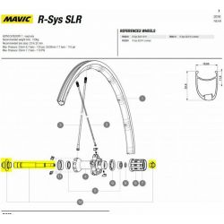 Mavic Achteras Kit  ompleet  RSys SLR 2016