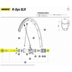 achteras kit compleet Mavic Ksyrium SLR / K125 / Rsys 2015