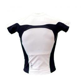 Dames wielershirt Bianchi Sport wit/zwart/celeste rugzijde