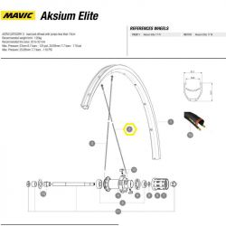 spaak Mavic achterwiel Aksium Elite 299mm
