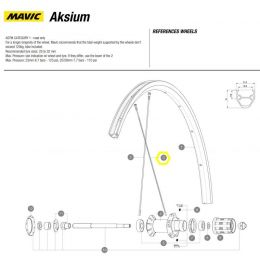 spaak Mavic achterwiel Aksium 299mm