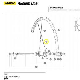 spaak Mavic achterwiel Aksium One 299mm