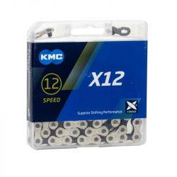 KMC 12 speed ketting X12 silver zilver / zwart