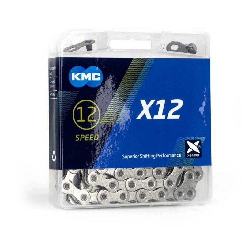 KMC 12 speed ketting X12 silver vernikkeld