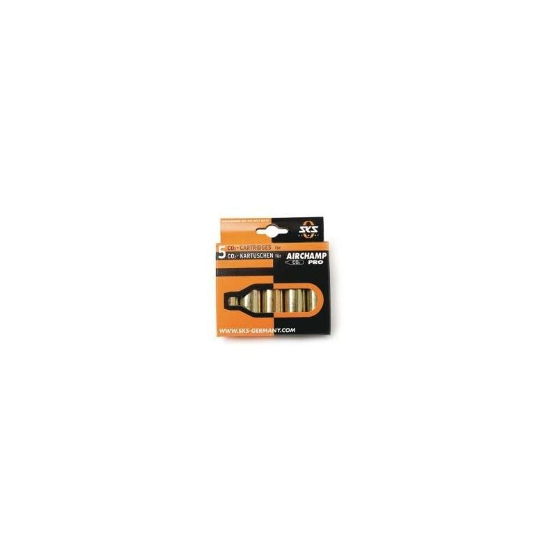 SKS Co2 Cartridges voor Airchamp Pro 5x16g zonder Draad