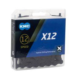 KMC 12 speed ketting X12 zwart BlackTech