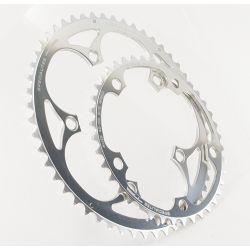 kettingblad 42 tanden zilver binnenblad BCD 130mm compatibel Shimano, SRAM, Rotor, FSA 8/9/10 speed by TA specialities Alize