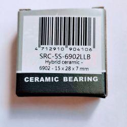 wiellager 15 x 28 x 7 mm ceramic hybride 6902LLB ABEC 5 CEMA