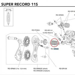 veer achterderaiileur Campagnolo Super record SR-RE008