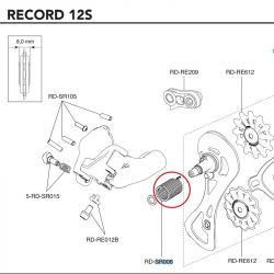 veer achterderailleur Campagnolo Record 12 Speed RD-RE008