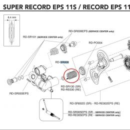 veer achterderailleur Campagnolo Super Record  EPS 11 Speed / RD-RE008