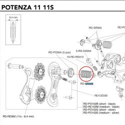 veer achterderailleur Campagnolo Potenza 11 Speed RD-RE008