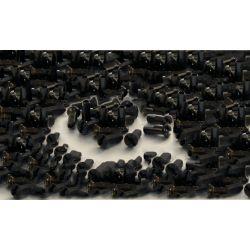 Sapim spaaknippels aluminium, zwart,  lengte 14mm, 14g/ 2.0mm,  doos 100,