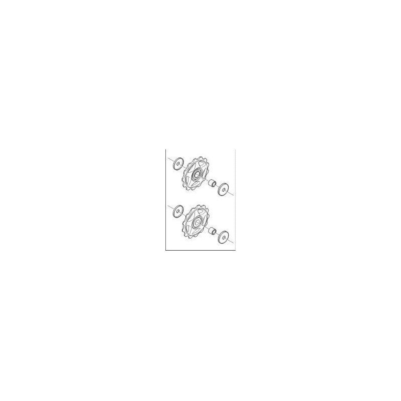 Derailleurwieltjes 8 speed Shimano Alivio RD-M410