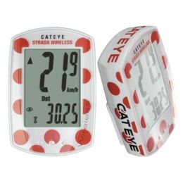 Cateye Fietscomputer Strada RD300W draadloos witte stip Limited Edition