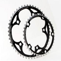 kettingblad 52 tanden zwart buitenblad blad BCD 130mm compatibel Shimano, SRAM, Rotor, FSA 8/9/10 speed by Alize TA specialties