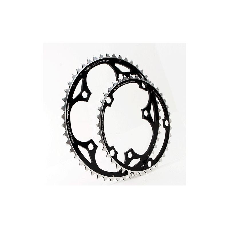 kettingblad 50 tanden zwart buitenblad blad BCD 130mm compatibel Shimano, SRAM, Rotor, FSA 8/9/10 speed by Alize TA specialties