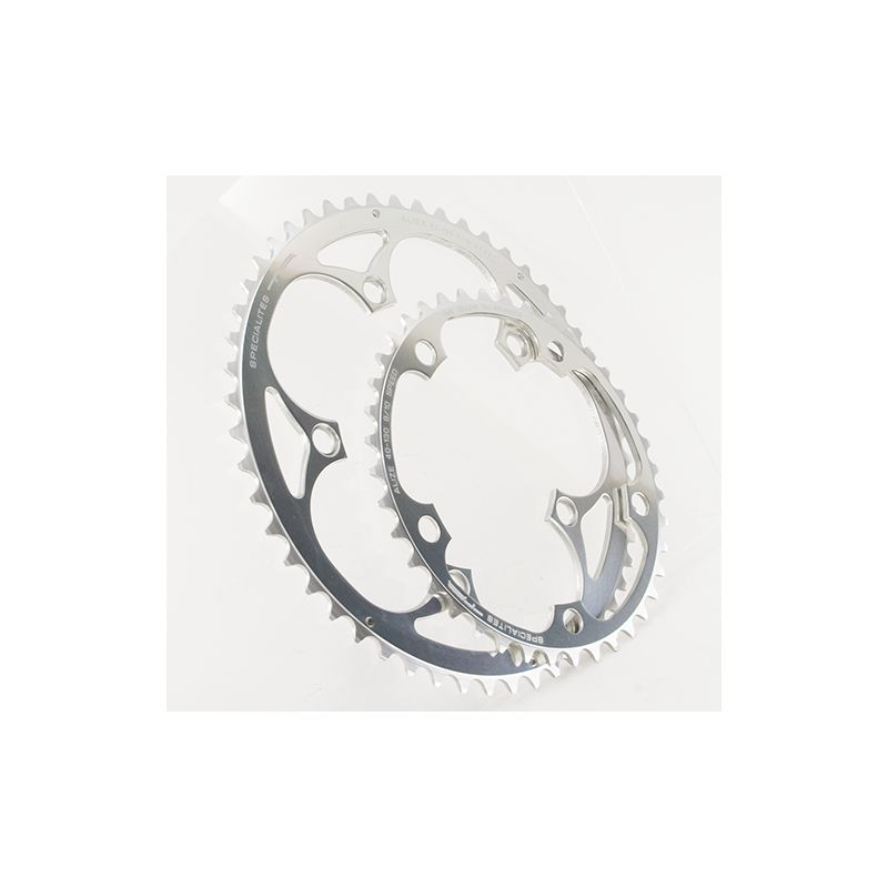 kettingblad 53 tanden zilver buitenblad blad BCD 130mm compatibel Shimano, SRAM, Rotor, FSA 8/9/10 speed by Alize TA specialties