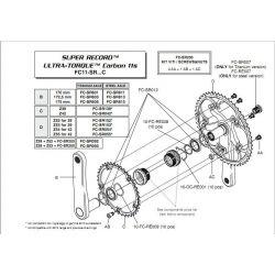Campagnolo trapas lagercups ultra torque Super Record  11S, BSA 68mm