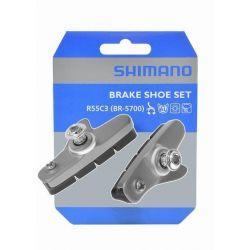 Shimano 105 Remblokken Set BR5700 zilver incl. Houder - Y8JC98040
