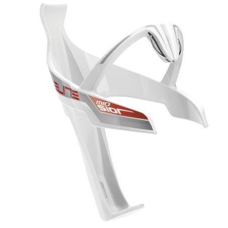 Elite Sior Mio Bidonhouder wit Glossy - rood Logo