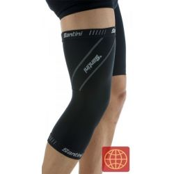 Kniewarmer Santini Thermofleece Fabric H20 zwart