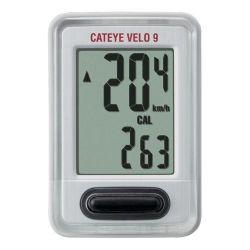 Cateye Fietscomputer Velo 9 wit CC-VL820 - NIEUW