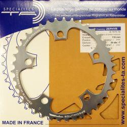 Kettingblad 38T Shimano Binnenblad BCD110 zilver Zephyr -...