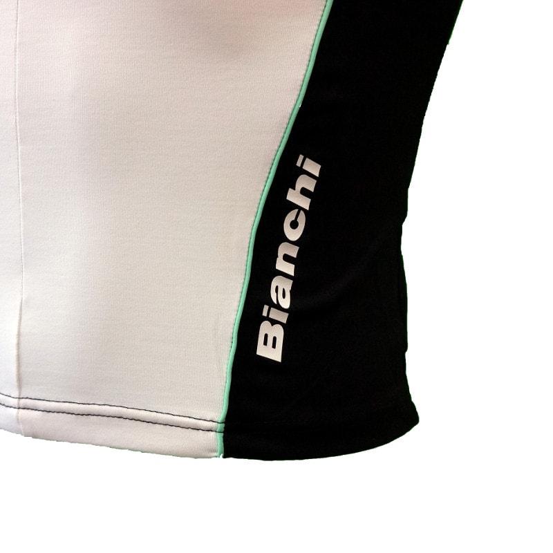 Bianchi dames wielershirt detail