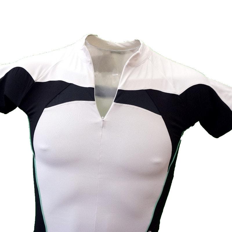 Bianchi wielershirt kraag open